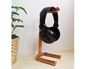 Headphone Stand Copper  / Headphone / industrial design/ On Ear Headphone / Audio Stand