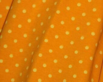 1 yard Knit Yellow/yellow small dots
