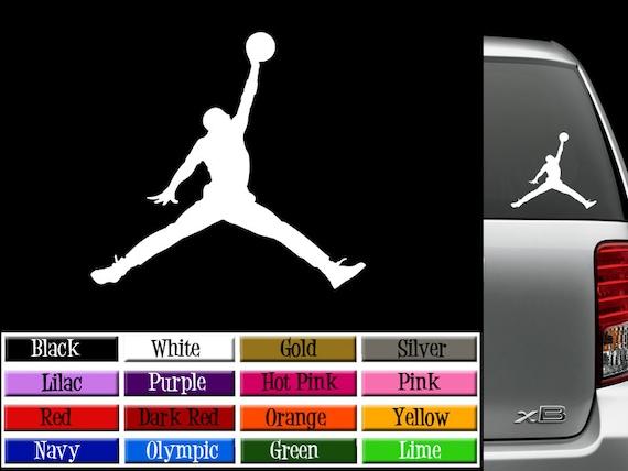 Air Jordan Jumpman Vinyl Decal Window Or Wall Sticker