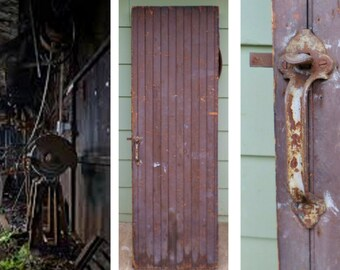 Antique, Industrial, Machine Shop, Wooden, Door, Hardware, Rustic, Table, Very Heavy ,  Pine, Distressed, Vintage