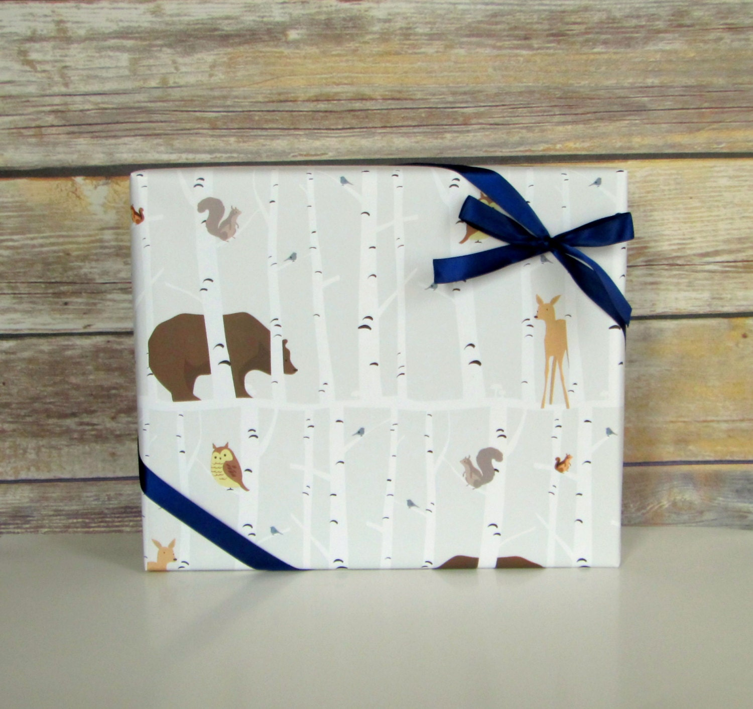Forest Friends Wrapping Paper 2 ft. x 10 ft. Roll Baby