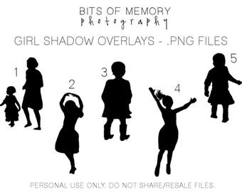 Shadow kid overlays (girls)