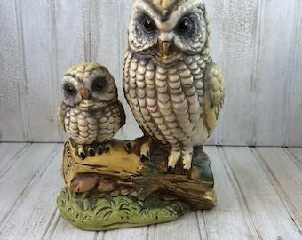 Vintage Made in Japan Ceramic Owl Figurines