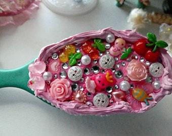 Kawaii Cherry & Bunny Ballerina Brush