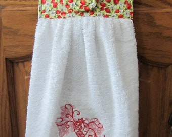 Embroidered Hanging Hand Towel