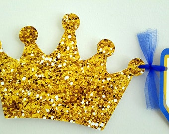 Prince Baby Shower Banner, Prince Baby Shower, Prince Birthday Banner, Royal Blue and Gold Banner, Royal Prince