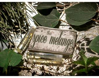 the spice melange - natural perfume oil 2-vial sampler pack- primary notes: cinnamon, clove & orange