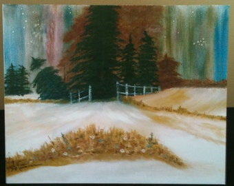 Fine Art Card Print of Artist's Oil Painting 'Woodland Welcome'