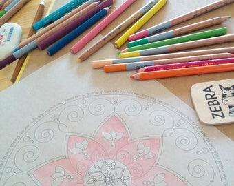 Healing Coloring Book-Jewish Girls -5 Printables-Star of David-Shabbat-Mandala-Menorah-Hebrew Prayers-Simple and Easy Craft-INSTANT DOWNLOAD