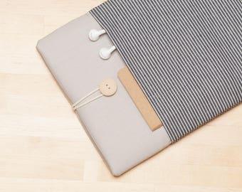 iPad Pro case / iPad sleeve / iPad Pro 10.5 case / ipad cover - Railroad denim ash -