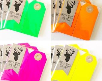 Parcel Tags Pk10 - Neon Optional Colour