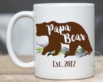 Papa Bear Mug, Bear Mug for Dad, Bear Mug for Papa, New Papa Bear Mug, New Dad Papa Bear Mug, Papa Bear Gift