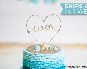 Personalized Birthday Cake Topper / Customized Cake Topper / Wire Heart Cake Topper / Smash Cake Topper / Birthday Cake Topper / Name Topper