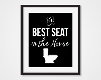 Funny Bathroom Art, Funny Art Print, Art For The Bathroom