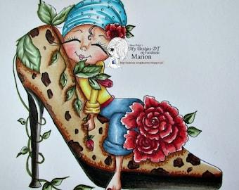 INSTANT DOWNLOAD digitale Digi Stamps Big Eye Big Head poppen nieuwe Sweet behandelt Besties img647 My Besties door Sherri Baldy