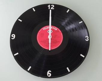 Clock wall vintage vinyl record