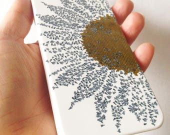 Sunflower bees phone case // Illustrated phone case // iPhone 6 // SALE