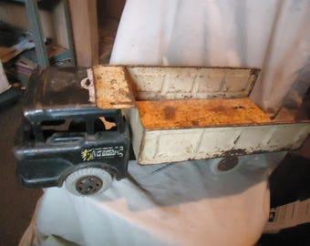 Vintage Louis Marx PowerHouse Pressed Steel Toy Dump Truck , collectable