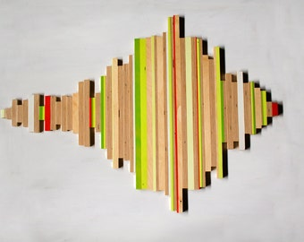 Plywood Wall Sculpture 36 x 25