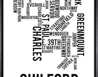 Guilford Baltimore Maryland Neighborhood Street Print - FREE SHIPPING