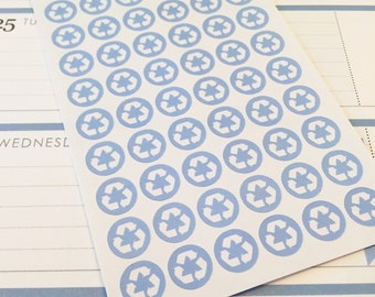54 Recycling Planner Stickers- Recycling Day Reminder Planner Stickers- perfect for your Erin Condren planner or wall calendar