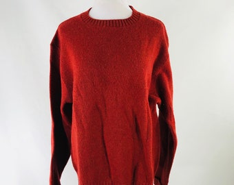Vintage 60s Jantzen Cardigan Red Wool Sweater Men Large Scotch Tumbler USA Made