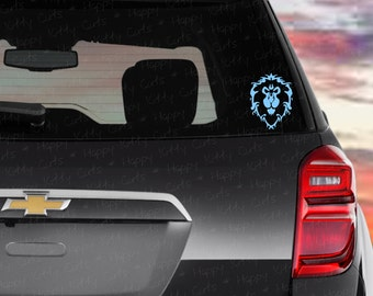 WoW World of Warcraft Alliance - Custom Vinyl Decal (Blue) (Free Shipping)