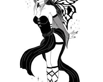 "Fairy Witch 8 x 10"" Matte Print"