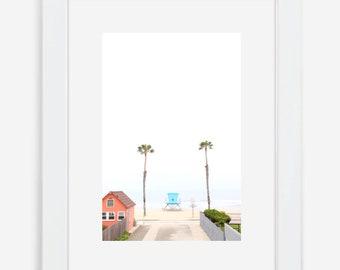 Lifeguard Art / Home Decor / Palm Tree Photo / Framed Wall Art / Coastal Decor / Beach Photography Prints / Photography Print
