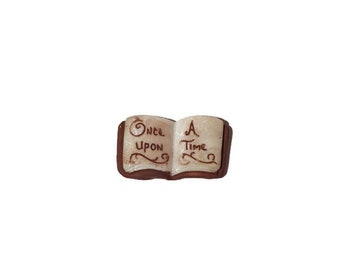 Once Upon a Time Miniature Book, Fairy Garden Accessories, Mini Book for Dollhouse Bookshelf or Bookcase, Reading Fairy,