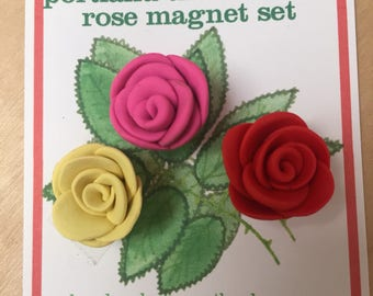 Portland The Rose City rose magnet set