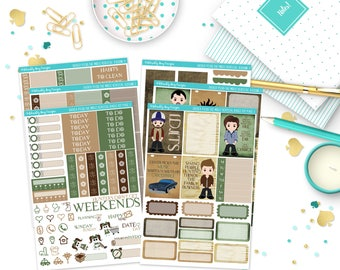 Vertical Driver Picks the Music Weekly Planner Sticker Kit for Erin Condren, Plum Planner, Inkwell Press or Happy Planners