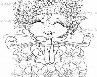 INSTANT DOWNLOAD Digital Digi Stamps Big Eye Big Head Dolls Digi  My - BestiesIMG443 By Sherri Baldy