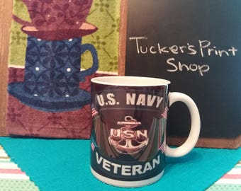 U.S Navy Veteran - Classic Ceramic White Coffee Mug 11oz or 15oz - Free Shipping!
