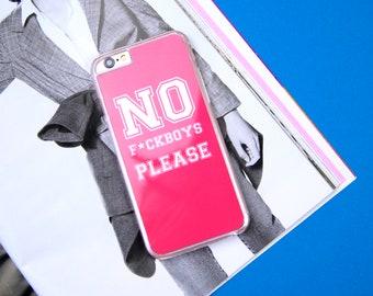 No F*ckboys Please Girls Funny Instagram Custom Made iPhone 5/5S/SE 6/6S 7 8 Plus + X Samsung S6 S7 S7 Edge S8 Phone Case/Cover UK!