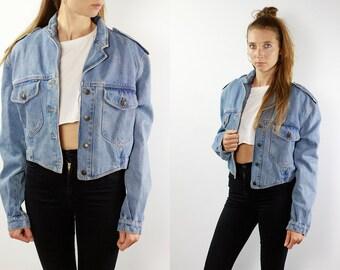 Denim Jacket Vintage Denim Jacket Grunge Jean Jacket Denim Jackets Jean Jacket Blue Jean Jacket Small Denim Jacket Grunge Jacket Swinger