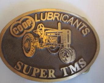 Coop Lubricants Super TMS tractor Belt Buckle