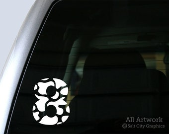 8 Cow Car Decal, LDS Sayings - Vinyl Sticker Vinyl Decal, Choice of Color - Car Window Decal, Bumper Sticker, Laptop Sticker
