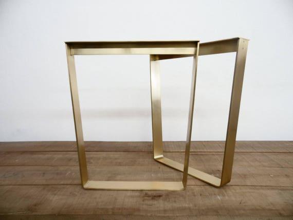 28 trapezoidale piatta ottone tavolo metallo gambe