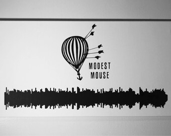 Modest Mouse Painted Sound Wave