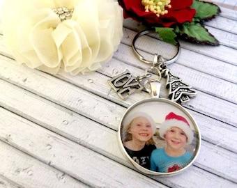 Personalised Photo keyring, gift idea, Keepsake Gift, Photo Pendant keyring, Christmas gift, Australian made
