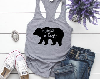 Mama Bear Shirt | Momma Bear Tank | Racerback Tank Top | Gift for Mom