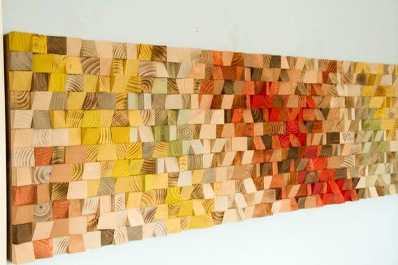 Reclaimed Wood Art wood wall art industrial decor Fire