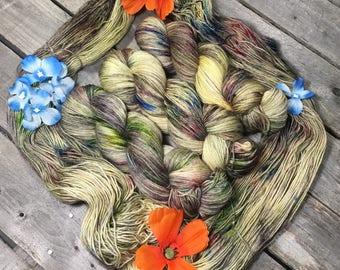 Barn Wood - Sturdy Sock Hand Dyed  Sock Yarn Superwash Merino Nylon