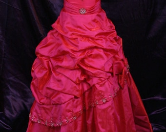 Mary's Fuchsia/Hot Pink flower girl dress size 7/8 girls