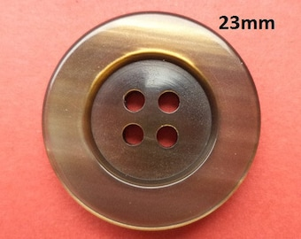8 Buttons Brown 23 mm (3748) button