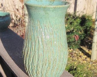 Pottery Vase ROBIN for Red Roses - Handmade Pottery