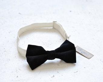 Black Velvet Tuxedo Bow Tie