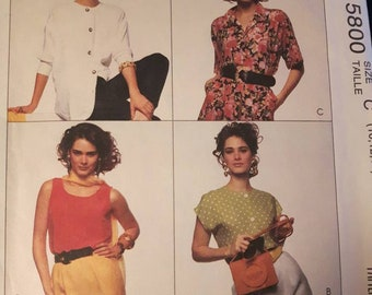 McCall's 5800, Blouse and Tank Top Sewing Pattern