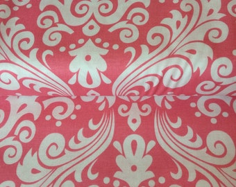 Large Damask fabric in Hot Pink by Riley Blake
